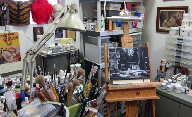 Elizabeth Ernst's painting atelier