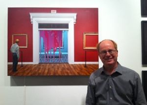 Gregory Scott with his piece In the next room, 2012