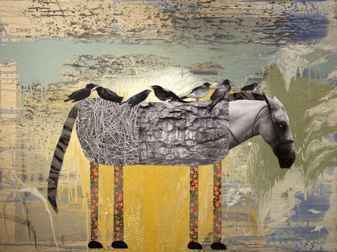 Horse with Birds Resting (2012) © Holly Roberts