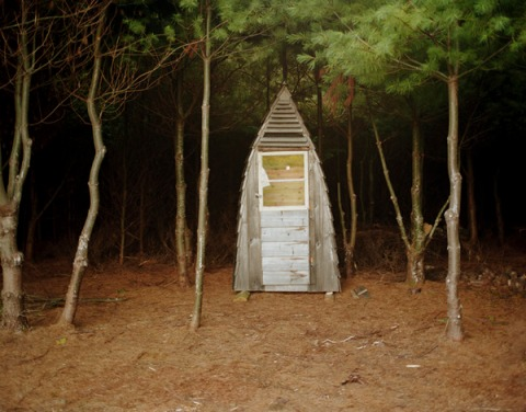 A-Frame Outhouse, Unity, Maine ©Keliy Anderson-Staley