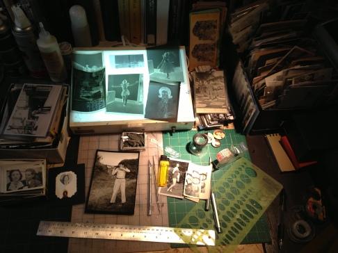 Anthony Vizzari studio and work space