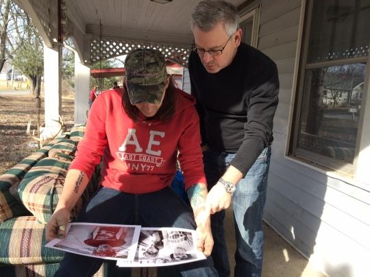 Jeffrey Wolin showing contact sheets