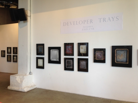 Installation images of Developer Tray series on view at powerHouse arena