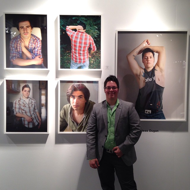 Jess T. Dugan with her work at  EXPO Chciago