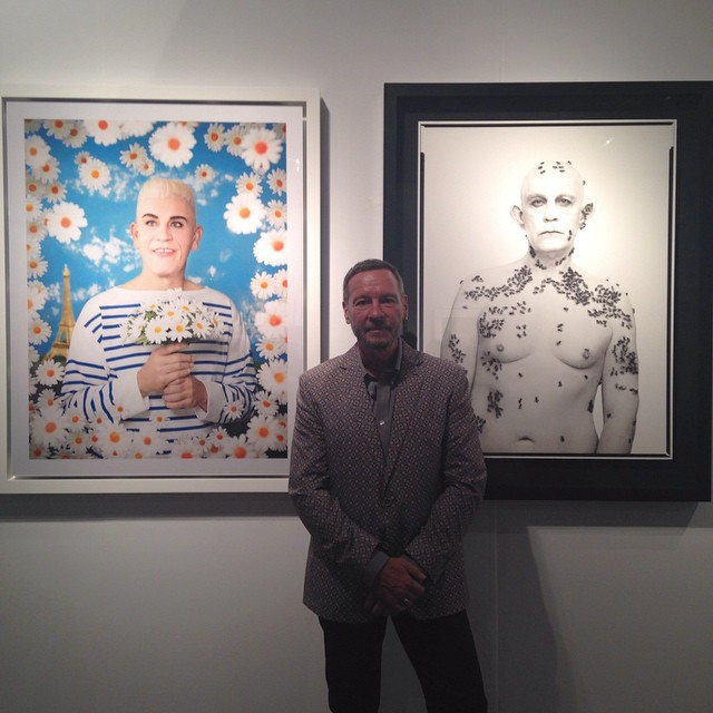 Sandro Miller with artwork, EXPO Chicago 2014
