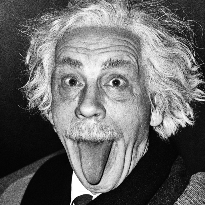 Arthur Sasse Albert Einstein Sticking Out His Tongue (1951), 2014 © Sandro Miller