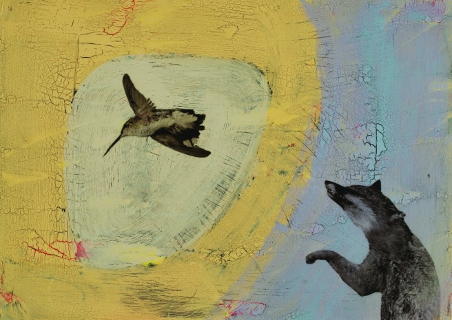 Small Fox with Hummingbird, 2011 © Holly Roberts