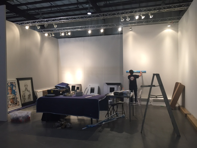 CEG installing at Silicon Valley Art Fair 2014