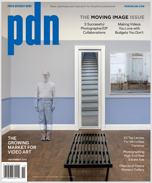 Gregory Scott on cover of PDN November 2014 issue