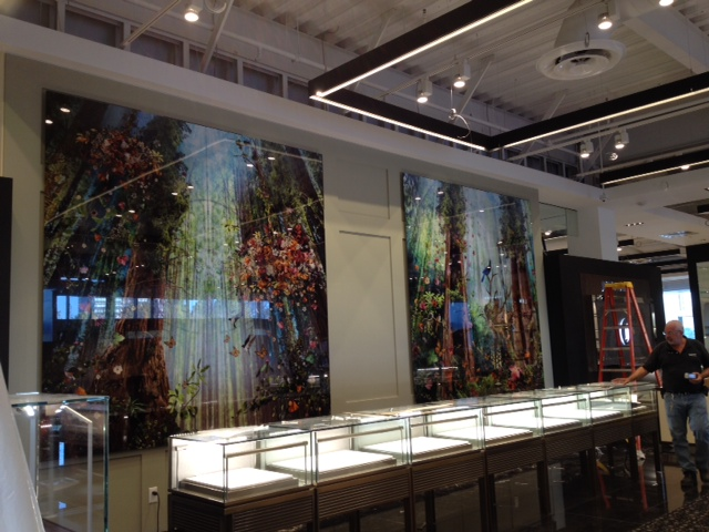The Cathedral installed at Bloomingdale's Stanford Store Palo Alto, CA © Ysabel LeMay