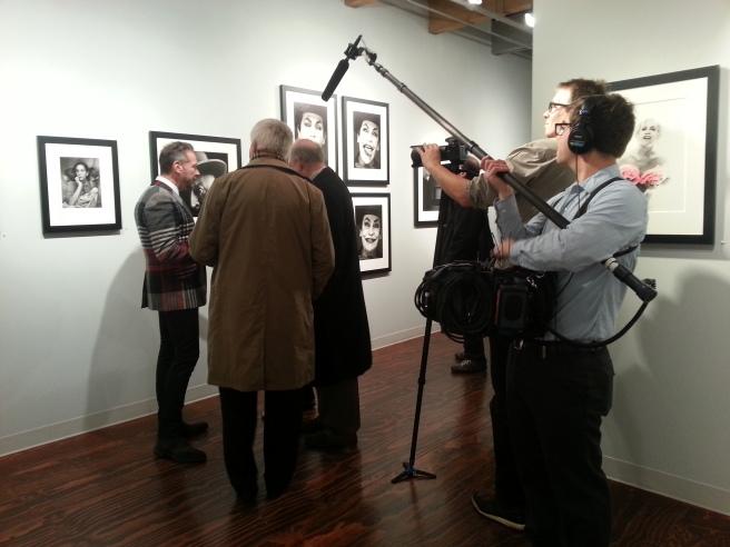 Sandro Miller filming documentary