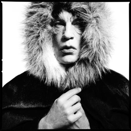 """David Bailey / Mick Jagger """"Fur Hood"""" (1964), 2014 © Sandro Miller"""