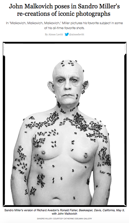 John Malkovich poses in Sandro Miller's re-creations of iconic photographs -Chicago Reader