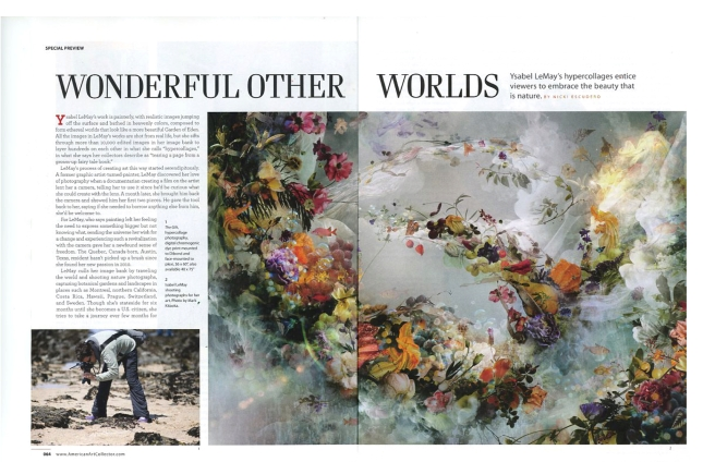 Ysabel LeMay featured in the most recent issue of American Art Collector Magazine