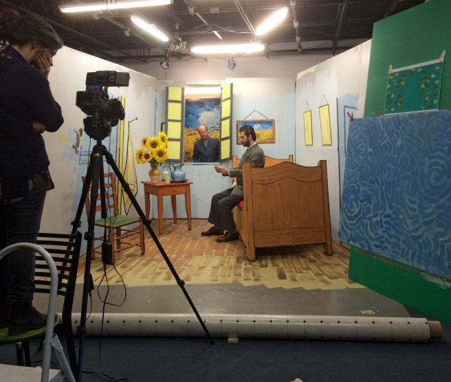 Behind the scenes of Van Gogh's Bedroom, 2015