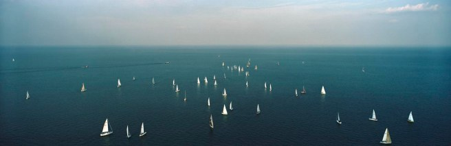 Lake Michigan, Sailboats, July 23, 2003 © Terry Evans