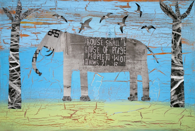 Elephant Preaching, 2013 © Holly Roberts