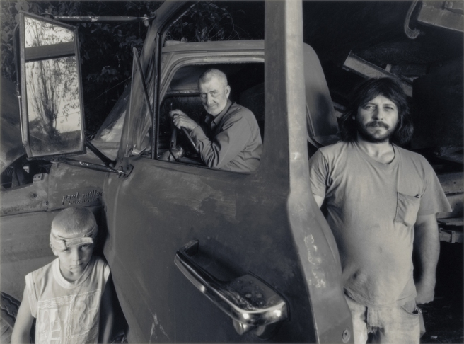 Lloyd Deane with Family and Coal Truck, 2002 © Shelby Lee Adams