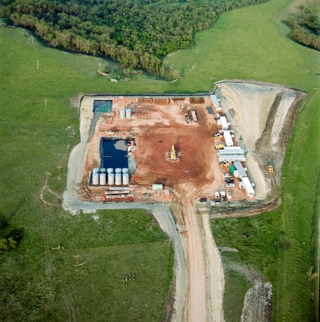 Oil pad on Davis prairie near White Earth, June 2011