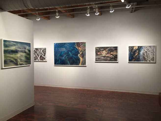 Installation view of Ice / Green Lands