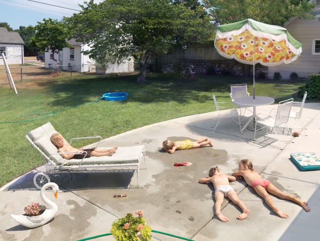 Laying Out, 2015 @ Julie Blackmon