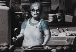 Pearl the Lunch Lady at Shady Grove Nursing Home, 2017 © Elizabeth Ernst